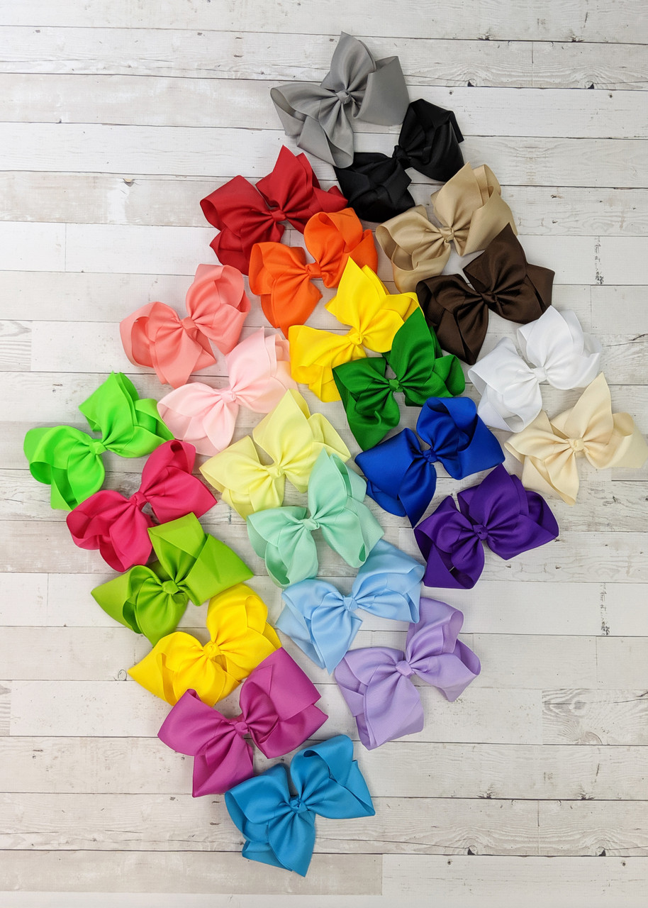 """20 Extra Large 6/"""" Girls Boutique Hair Bows"""
