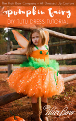 40d4cdd66 Autumn Pumpkin Fairy Tutu Dress DIY Tutorial