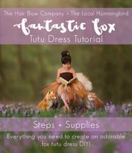 54167284d Fantastic Fox Tutu Dress Tutorial
