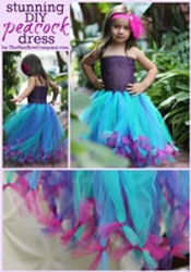 7234addb9 Peacock Tutu Dress - The Hair Bow Company - Boutique Clothes & Bows