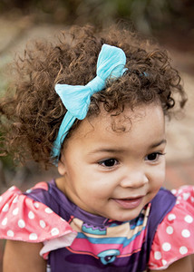 Fabric Baby Bow Nylon Headband or Clip In Newborn to Child Large Shaded Grey Hearts