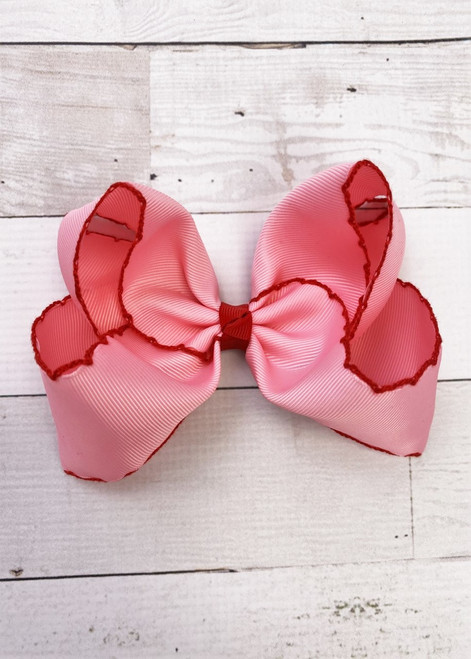 """Lavender Pink Yellow Pastel Polka Dot Striped Feather Hair Bow 5/"""""""