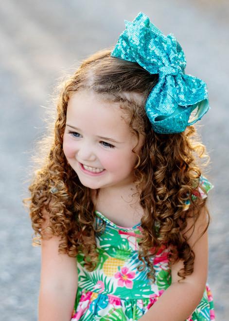 """Black rainbow 3/"""" sequin fabric bow DIY baby headband /& hair bow supplies"""