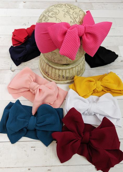 Big Bow Headbands Large Bow Headbands Ribbon Bow Headbands Stretchy Headbands Baby Girl Headbands Headbands  Hair Bows