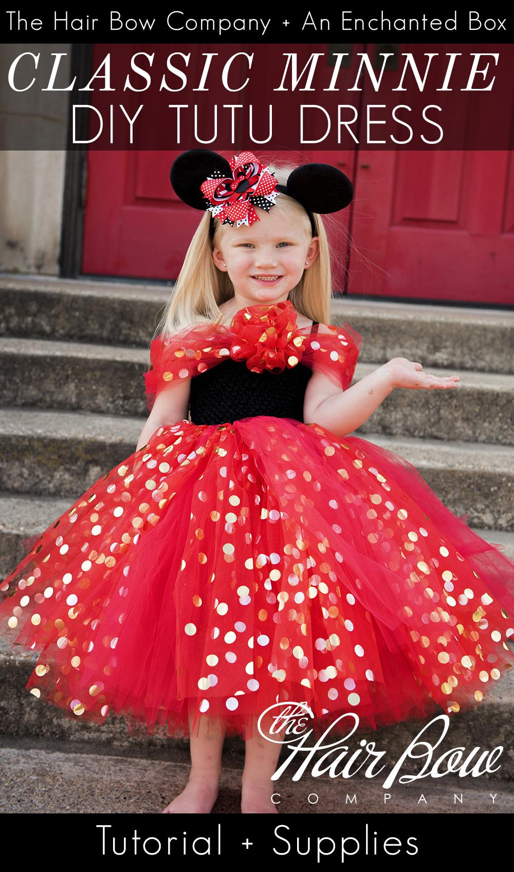 Classic Minnie Mouse Tutu Dress DIY Tutorial - The Hair ...