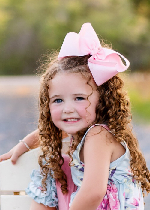 """Details about  /Girls Hair Bow 3 1//2/"""" Wide Flower Houston Astros Barrette Clip or Ponytail"""