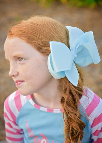 Hair Bows Extra Large Grosgrain Hair Bow With French Clip