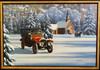 1912 Pierce Arrow Brass Era Motor Car Original Oil Painting