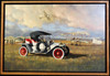 1912 Selden Brass Era Motor Car Original Oil Painting