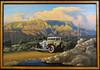 1934 Packard Derham Motor Car Original Oil Painting
