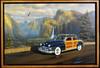 1947 Chrysler Woody Motor Car Original Oil Painting