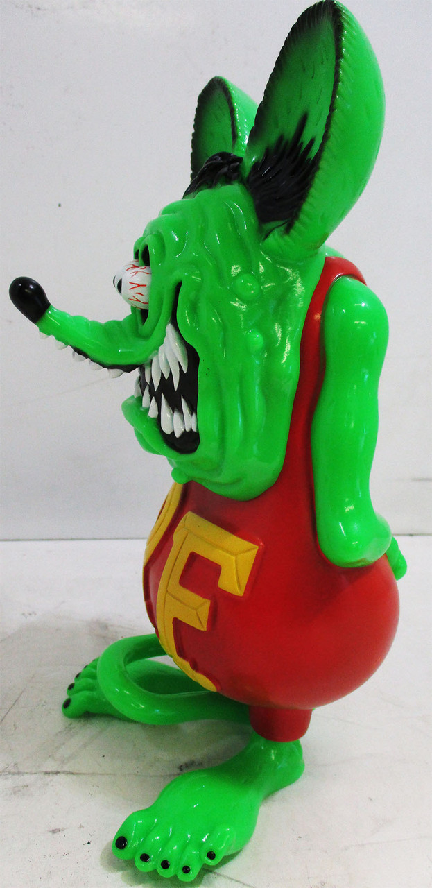 """13/"""" Green RAT FINK Action Figure  Big /""""Daddy/"""" Ed  Roth Statue Model Toy"""