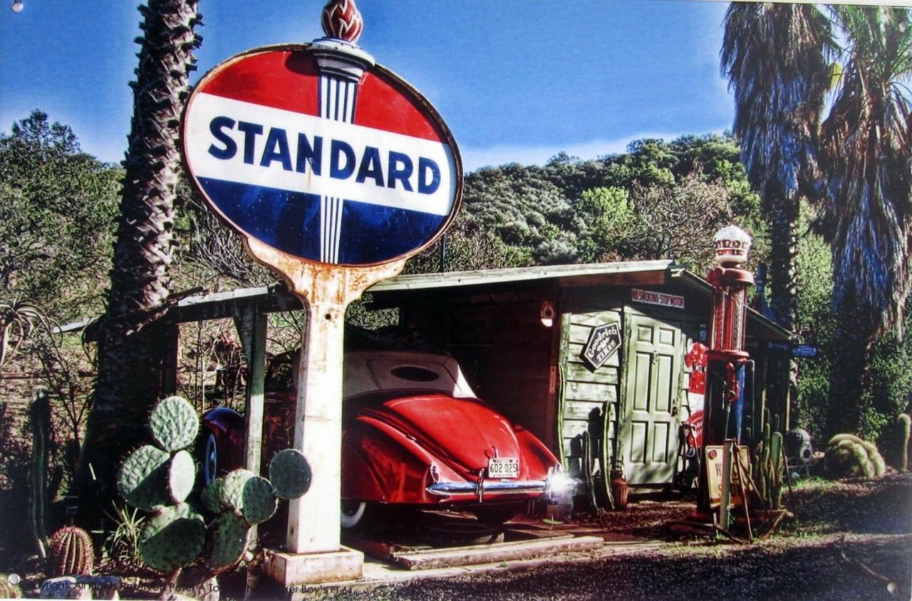 Standard Station Metal Sign
