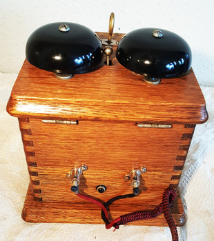 Oak Wood Ringer Box circa 1930's