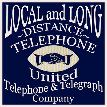 Local and Long Distance Telephone and Telegraph Sign