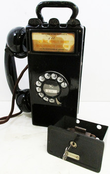 Gray Pay Station / Telephone Circa 1900's