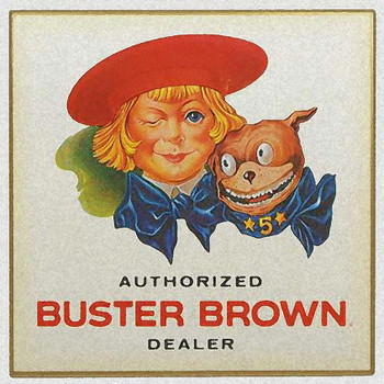 Buster Brown Authorized Dealer Metal Sign