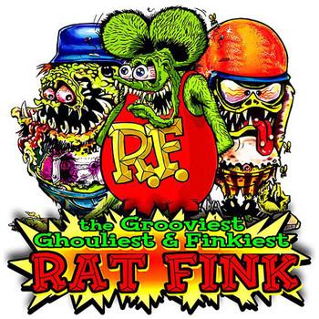 Finkiest Rat Fink Plasma Cut Metal Sign