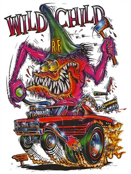 Wild Child Rat Fink Metal Sign