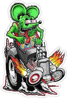 Rat Fink Riding Hot Rod Plasma