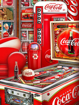 Coca-Cola Pinball Room by Michael Fishel
