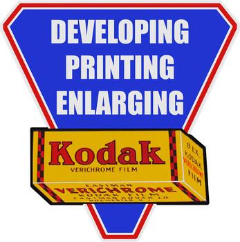 Kodak Film Plaque Plasma Cut Metal Sign