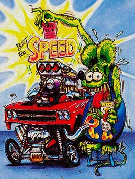 Built for Speed Rat Fink Metal Sign