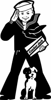 Cracker Jack Boy Plasma Cut Metal Sign
