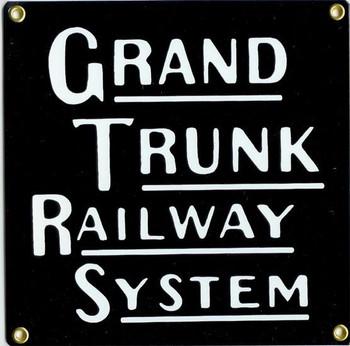 Grand Trunk Railway Porcelain Sign
