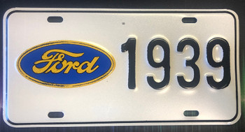 Ford 1939 License Plate
