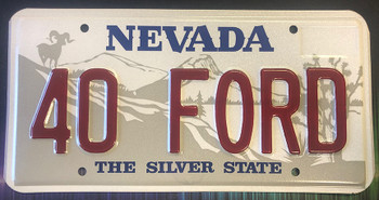 40 Ford Nevada License Plate