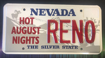 Hot August Nights Reno Nevada License Plate
