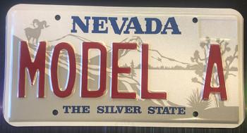 Model A Nevada License Plate