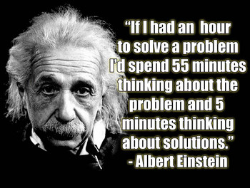 Albert Einstein Problems and Solutions Quote