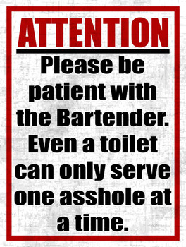 Bartenders, Toilets, and Assholes