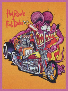 Hot Rods and Fast Bobs, Rat Fink Metal Sign