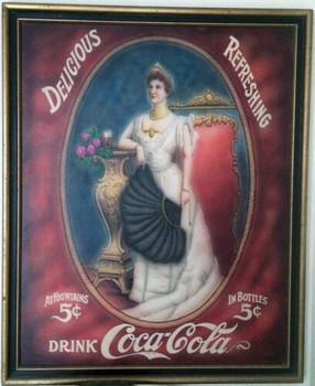 "Coca-Cola Advertisement ""Delicious-Refreshment"" Original Art"