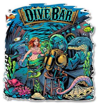 Dive Bar Plasma Cut Metal Sign
