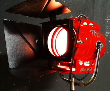 1K Hollywood Movie Light (red) with Chrome Stand
