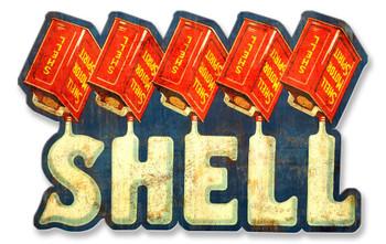 Shell Liquid Text Motor Oil