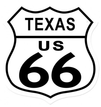 Texas Route 66 Shield Metal Sign