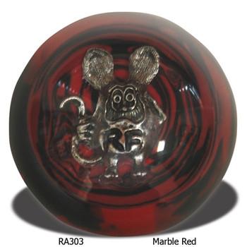 Rat Fink Shift Knob - Marble Red