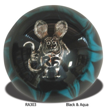 Rat Fink Shift Knob Black and Aqua
