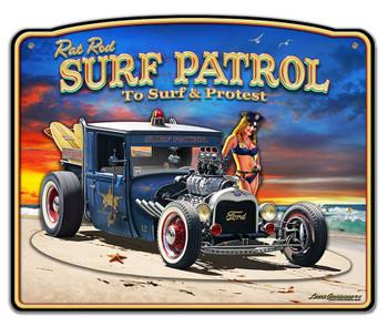 1929 Rat Rod Surf Patrol 3D Sign