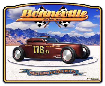 Bonneville Salt Flats Speed Coupe 3D Sign
