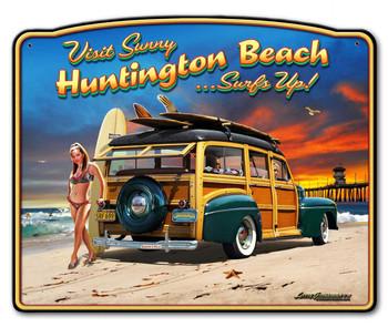 Visit Sunny Huntington Beach Surfs Up Woody