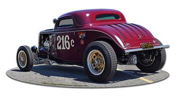 1933 Speed Coupe Plasma Cut Metal Sign