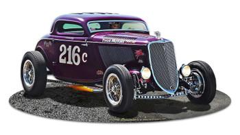 1933 Speed Coupe 216c Thor Motors Plasma Cut Metal Sign