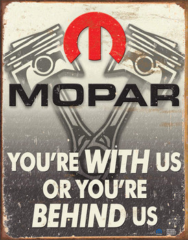 Mopar You're with Us or Behind Us