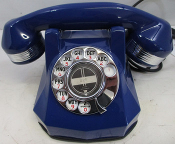 Antique Automatic Electric Blue Monophone Telephone AE40 Restored